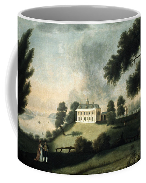 1806 Coffee Mug featuring the painting Mount Vernon, 1806 by Granger