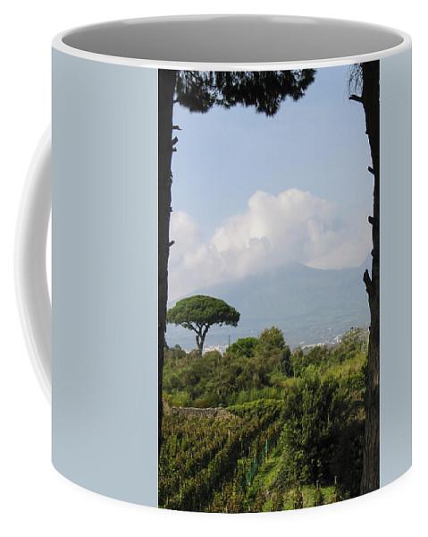 3scape Coffee Mug featuring the photograph Mount Vesuvius by Adam Romanowicz
