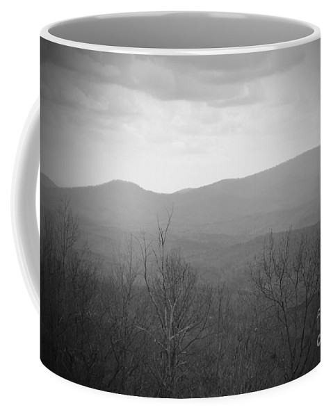 Amicalola Coffee Mug featuring the photograph Mountain Grey by Jost Houk