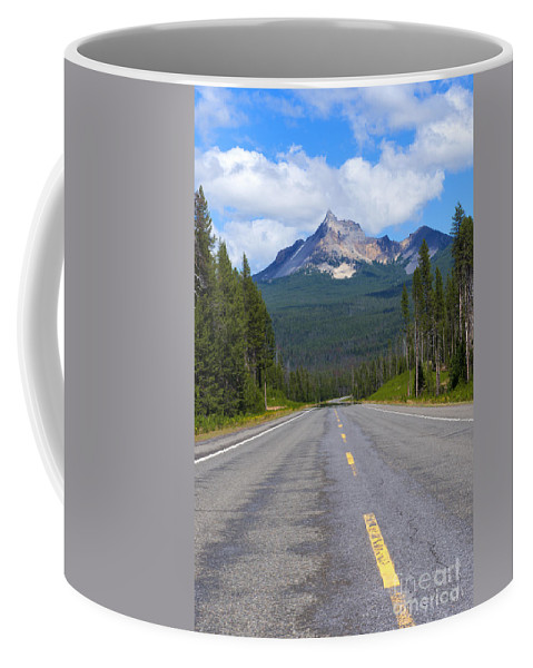 Mt. Thiessen Coffee Mug featuring the photograph Mountain Highway by Mike Dawson
