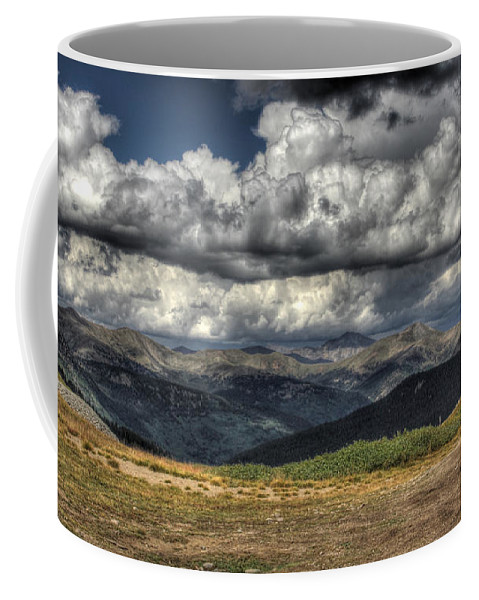 Mountains Coffee Mug featuring the photograph Mountain Panorama by Chance Chenoweth
