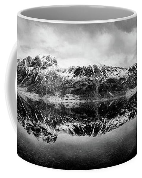 Lofoten Islands Coffee Mug featuring the photograph Mountain Reflection by Dave Bowman