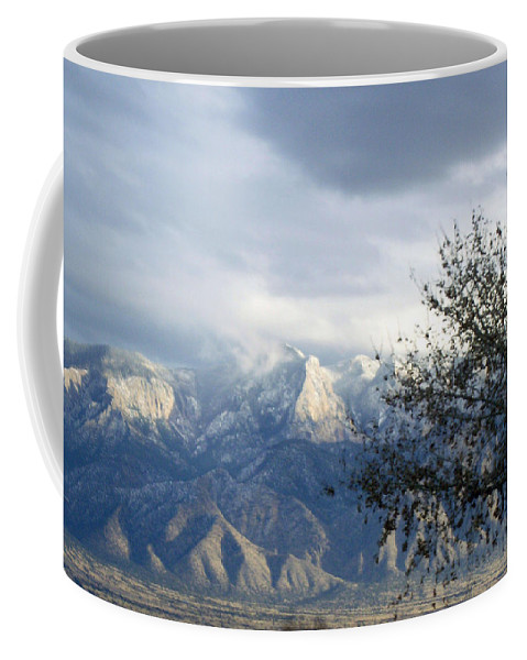 Snow Coffee Mug featuring the photograph Mountain Snow Storm by Lovina Wright