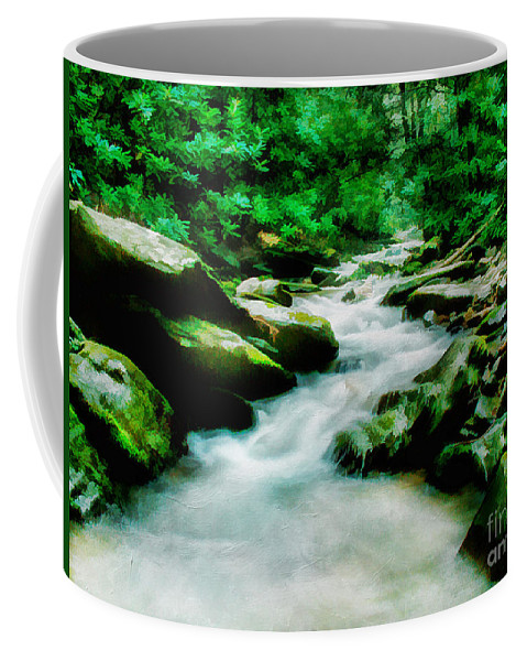 Background Coffee Mug featuring the photograph Mountain Stream by Darren Fisher