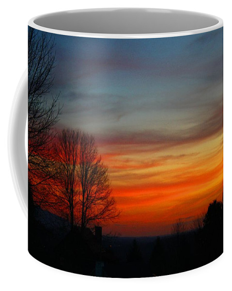 Sunset Coffee Mug featuring the photograph Mountain Sunset 3 by Kathryn Meyer