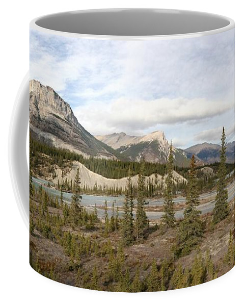 Panorama Coffee Mug featuring the photograph Mountain Valley by Ian Mcadie