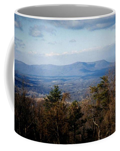 Mountains Coffee Mug featuring the photograph Mountain Vista II by Laura Corebello