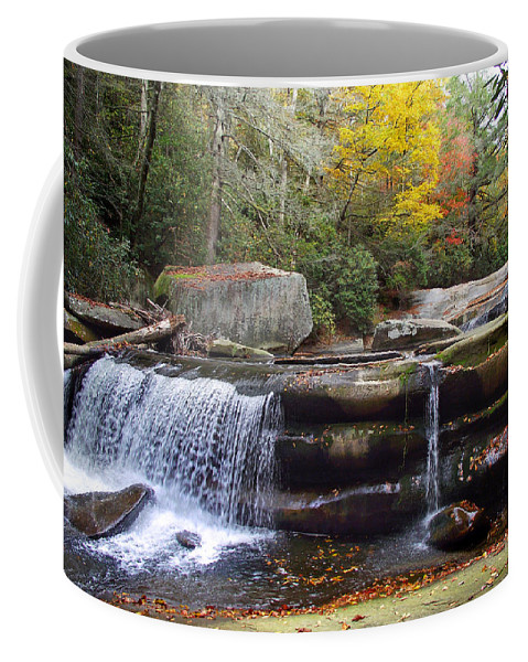 Waterfall Coffee Mug featuring the photograph Mountain Waterfall 2 by Duane McCullough