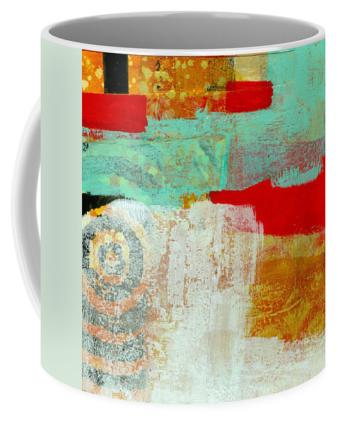 4x4 Coffee Mug featuring the painting Moving Through 24 by Jane Davies