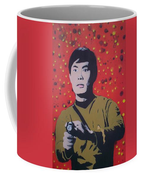 Star Trek Coffee Mug featuring the painting Mr Sulu by Gary Hogben