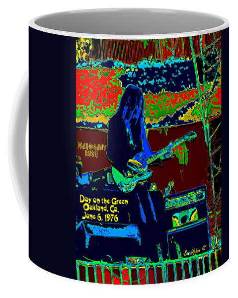 Frank Marino Coffee Mug featuring the photograph Mrdog # 71 Psychedelically Enhanced W/text by Ben Upham