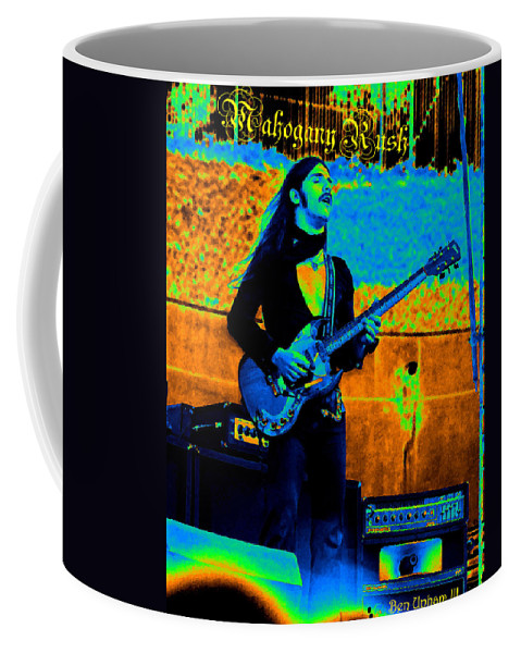 Frank Marino Coffee Mug featuring the photograph Mrdog #24 In Cosmicolors Crop 2 With Text by Ben Upham