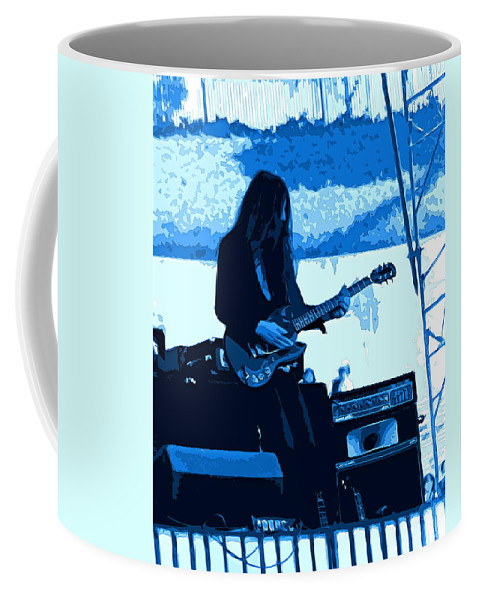 Frank Marino Coffee Mug featuring the photograph Mrdog #71 Enhanced In Blue by Ben Upham