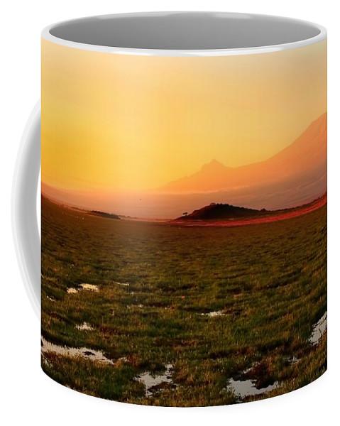 Mt Kilimanjaro Coffee Mug featuring the photograph Mt Kilimanjaro by Amanda Stadther