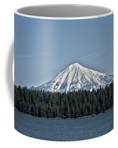 Mt. Mcloughlin Coffee Mug featuring the photograph Mt. Mcloughlin by Betty Depee