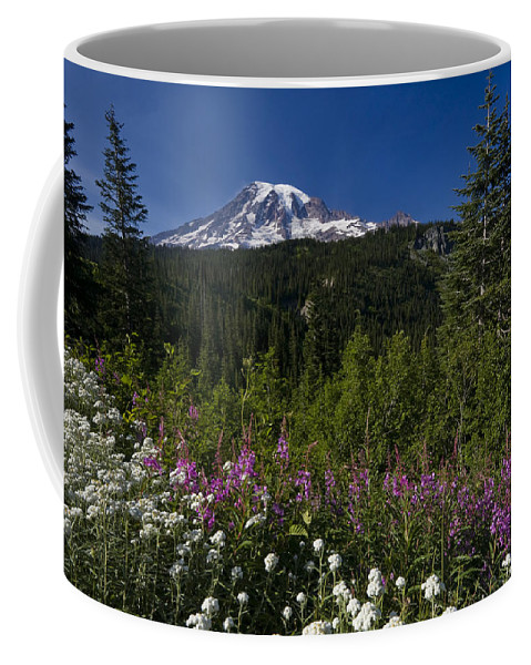 3scape Coffee Mug featuring the photograph Mt. Rainier by Adam Romanowicz
