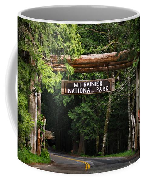 Mt Coffee Mug featuring the photograph Mt Rainier Gateway by Steve Gadomski