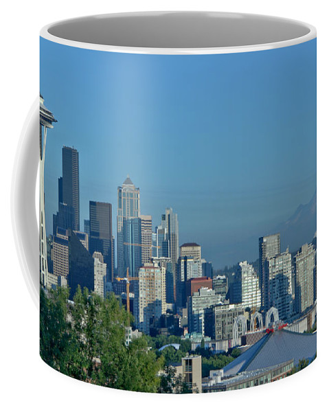 Seattle Coffee Mug featuring the photograph Mt Rainier by Marv Russell