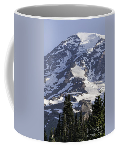 Mt Rainier Coffee Mug featuring the photograph Mt Rainier Portrait by Sharon Seaward