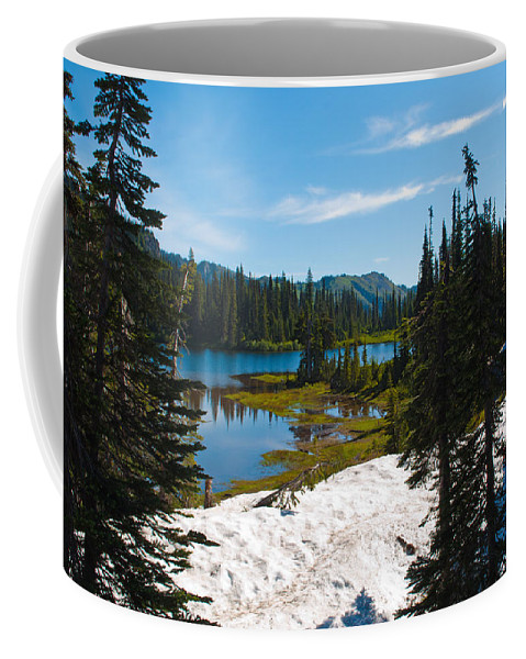 Reflection Lake Coffee Mug featuring the photograph Mt. Rainier Wilderness by Tikvah's Hope