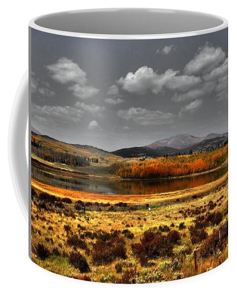 Mt. Silverheels Coffee Mug featuring the photograph Mt. Silverhills In Silver by Lanita Williams