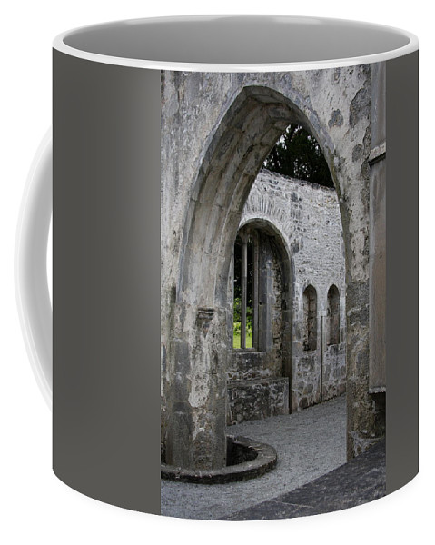 Abbey Coffee Mug featuring the photograph Muckross Abbey Killarney by Christiane Schulze Art And Photography