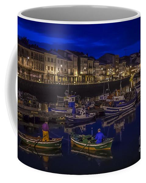 Boat Coffee Mug featuring the photograph Mugardos Port Galicia Spain by Pablo Avanzini