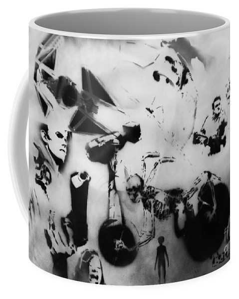 Gun Coffee Mug featuring the painting Multi Testspray by Barry Boom