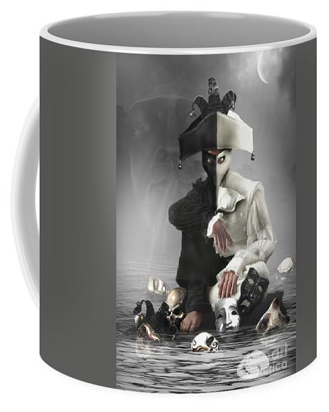 Dark Coffee Mug featuring the digital art Multifaceted by Babette Van den Berg
