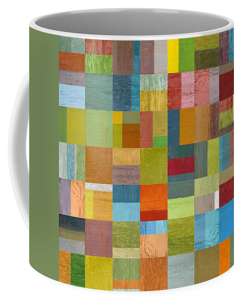 Abstract Coffee Mug featuring the digital art Multiple Exposures L by Michelle Calkins