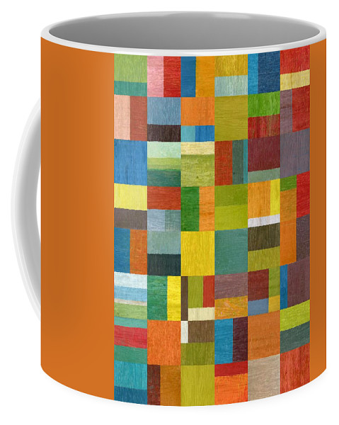 Abstract Coffee Mug featuring the painting Multiple Exposures lV by Michelle Calkins