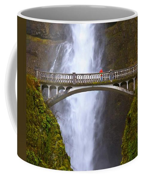 Multnomah Falls Coffee Mug featuring the photograph Multnomah Falls Bridge In Oregon by Ginger Wakem