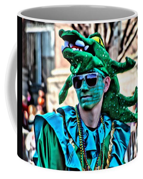 Mummers Philadelphia Man Parade Portrait Alcegipsonphotographs Coffee Mug featuring the photograph Mummer Favorite by Alice Gipson