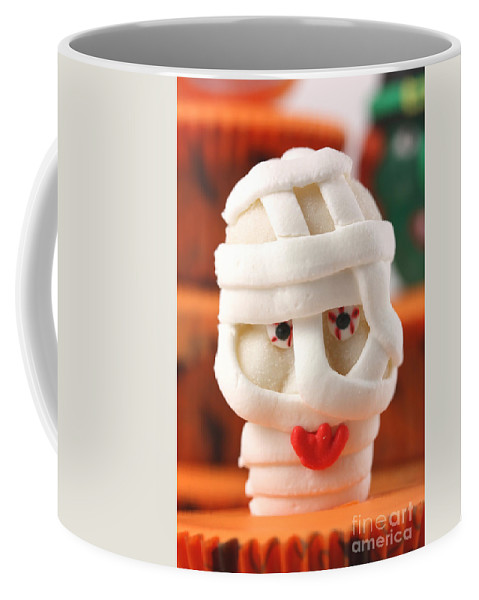 Cup Coffee Mug featuring the photograph Mummy Sweet On Halloween Cup Cake by Simon Bratt Photography LRPS