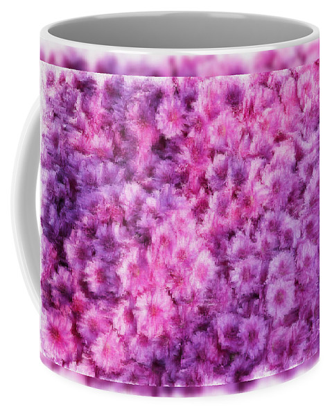 Flowers Coffee Mug featuring the photograph Mums In Purple - Featured In 'comfortable Art' And 'nature Photography' Groups by Ericamaxine Price