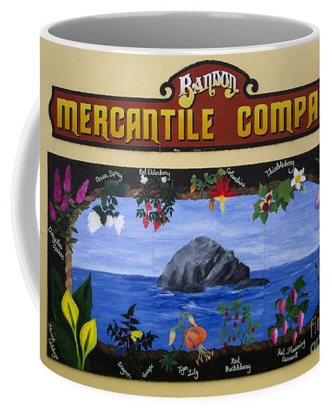 Mural Coffee Mug featuring the photograph Mural Bandon Mercantile Company by Bob Christopher