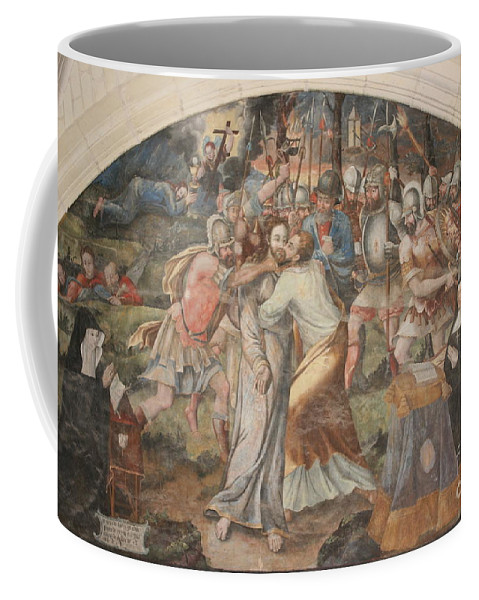Wall Coffee Mug featuring the photograph Mural Painting Abbey Fontevraud by Christiane Schulze Art And Photography