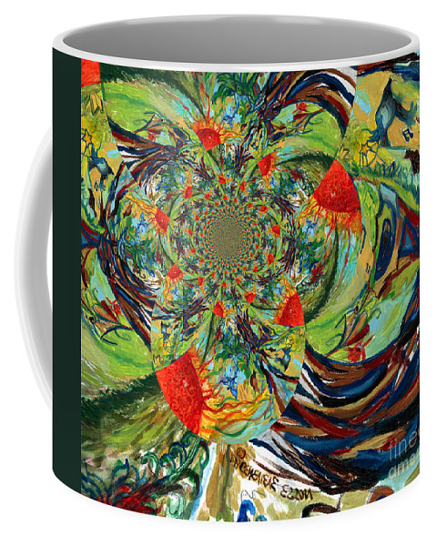 Music Coffee Mug featuring the digital art Music In Bird Of Tree Trunk by Genevieve Esson