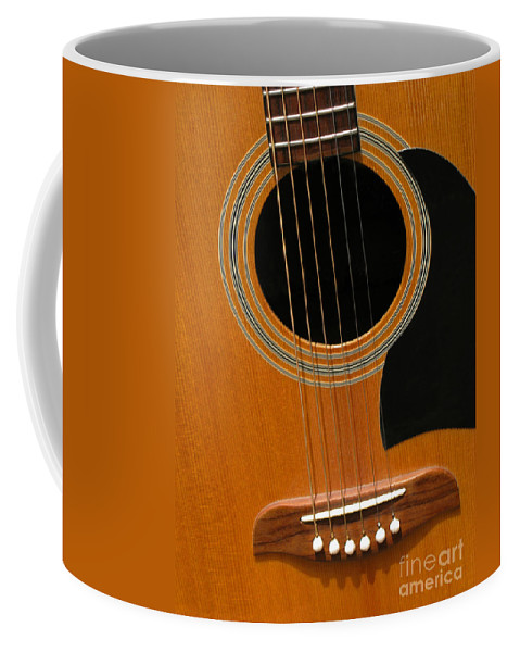Guitar Coffee Mug featuring the photograph Musical Abstraction by Ann Horn