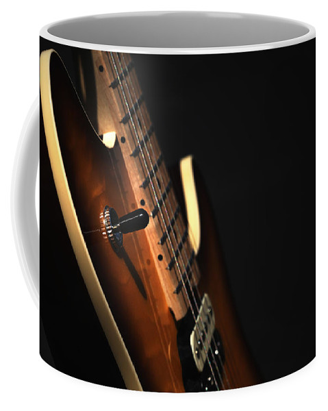 Guitar Coffee Mug featuring the photograph Musical Essence by Karol Livote