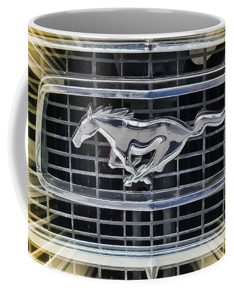 Victor Montgomery Coffee Mug featuring the photograph Mustang Emblem by Victor Montgomery