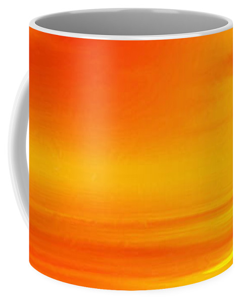 Flying Swan At Sunset Coffee Mug featuring the painting Mute Sunset by John Edwards