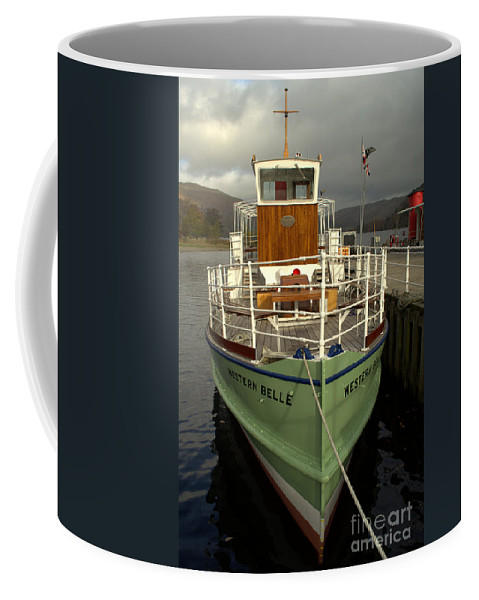 Ulleswater Coffee Mug featuring the photograph M.v The Western Belle by Linsey Williams