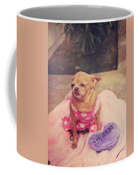 Dogs Coffee Mug featuring the photograph My Baby by Laurie Search