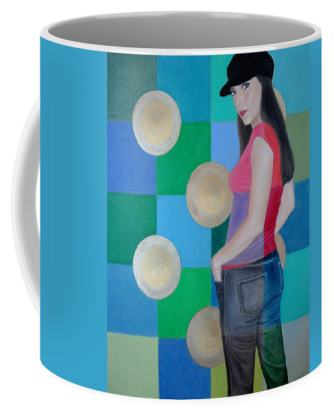 Black Cap Coffee Mug featuring the painting My Black Cap by Lynet McDonald