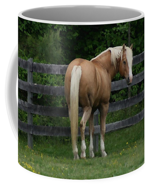 Horse Coffee Mug featuring the digital art My Dream Horse by Tina Meador