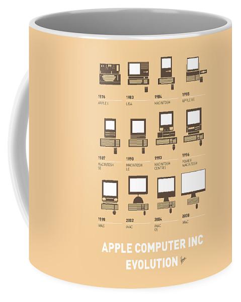 Minimal Coffee Mug featuring the digital art My Evolution Apple Mac Minimal Poster by Chungkong Art