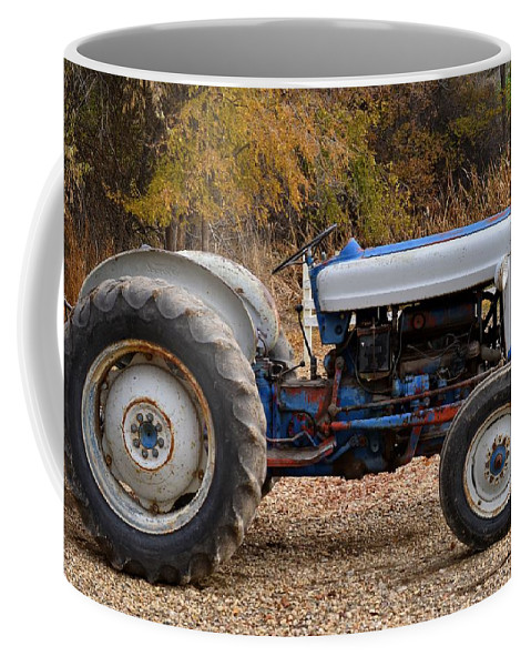 Melba Coffee Mug featuring the photograph My Faithful Tractor by Image Takers Photography LLC - Carol Haddon