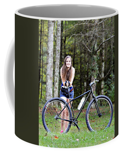 Girl Coffee Mug featuring the photograph My Favorite Ride by Susan Leggett