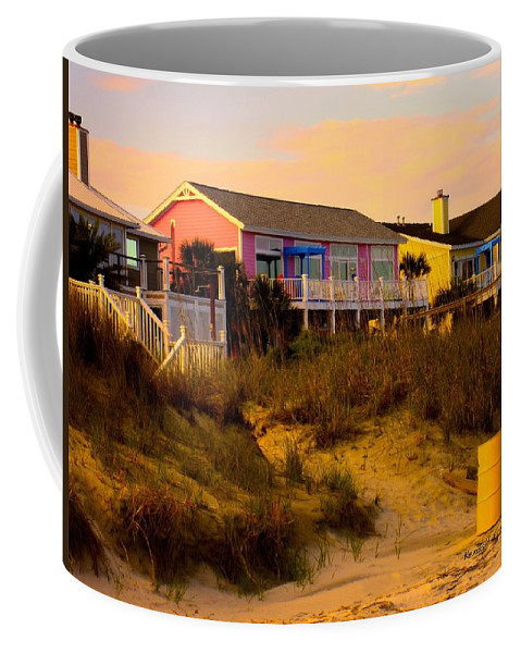 Kendall Kessler Coffee Mug featuring the photograph My Feet In The Sand At Isle Of Palms by Kendall Kessler